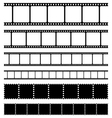 Film strips stamps and photo negatives set vector image vector image