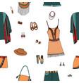 bohemian fashion style seamless pattern boho and vector image