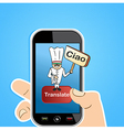 Smart phone translation app concept vector image