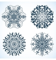 Collection of Snowflakes with horse vector image vector image