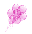 Flying pink balloons isolated on white background vector image vector image