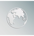 Paper Earth vector image vector image