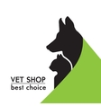 silhouettes of a cat and dog on the poster vector image