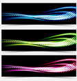 Collection speed flow abstract swoosh futuristic vector image