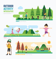 parks and outdoor activityTemplate Design Infograp vector image