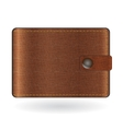 Brown leather wallet vector image
