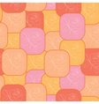 geometric red and orange pattern vector image