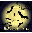 Halloween Party Design vector image