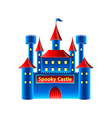 Horror castle isolated on white vector image