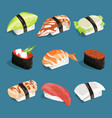 japanese classical food vector image
