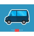 Mini bus isolated vector image
