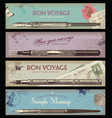 retro travel or writing banner vector image
