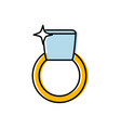 ring icon image vector image