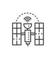 satellite - line design single isolated icon vector image