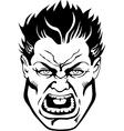 Tough guy comic book face vector image