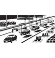 Car assembly line vector image vector image