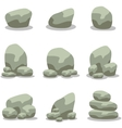 Rock set design collection of vector image