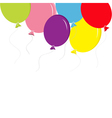 Colorful balloon set with bow and thread Greeting vector image