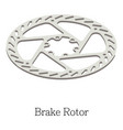 brake rotor icon isometric 3d style vector image