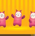 Cute Pink Pinata Monsters vector image