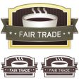 Fair trade coffee label vector image