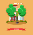 father concept in flat style vector image