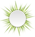 Green beams and white circle abstract background vector image