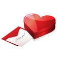 happy valentine s dayisometric chocolate gift box vector image
