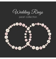 Pearl rings frame in circle shape Pink vector image