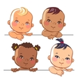 Set of cute little baby girls vector image