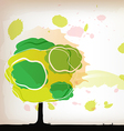 tree watercolor background vector image