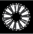 Wheel of Fortune Game Jackpot on Black Background vector image