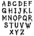 Graffiti splash alphabet font grunge text vector image vector image