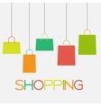 Shopping Bag Design Background vector image