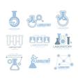 Chemical Laboratory Facility Logo Graphic Design vector image