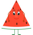 cute cartoon watermelon with face vector image