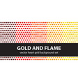 heart pattern set gold and flame seamless vector image