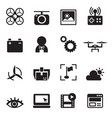 basic drone icons vector image