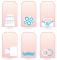 Wedding labels set isolated on white vector image vector image