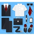 Flat business collection dress Black color vector image