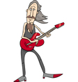 old rock man cartoon vector image