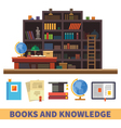 Cabinet and library vector image