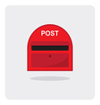 flat icon red mail box vector image vector image