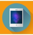 tablet computer icon with space image Flat vector image