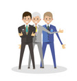 businessmen group character flat human people vector image