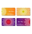 Collection Business card or invitation vector image