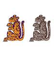 deity leopards vector image