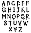Graffiti splash alphabet font grunge text vector image