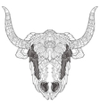 Yak head doodle with black nose vector image