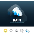 Rain icon in different style vector image